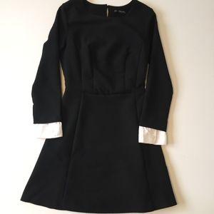 Zara Black long sleeve Dress